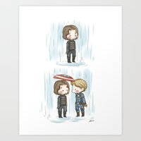 stucky Art Prints featuring Rain  by BlacksSideshow
