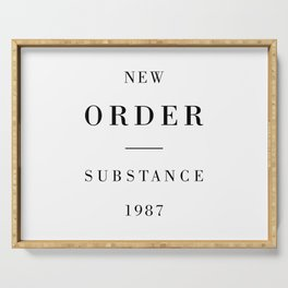 New Order Substance 1987 Serving Tray