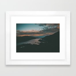 Columbia River Gorge Sunset Framed Art Print
