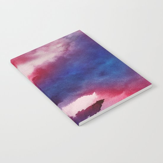 Clouds - abstract watercolor 01 Notebook