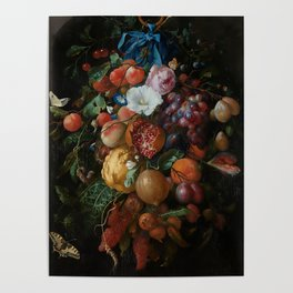 Antique Botanical IV [antique painting remixed] Poster