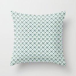 White Brassicas Throw Pillow