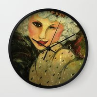 royal Wall Clocks featuring Royal by Liz Atmore-Vitols