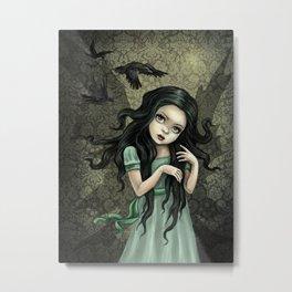 Shadow Wings Faerie Metal Print