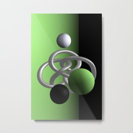 escaped -3of3- green Metal Print