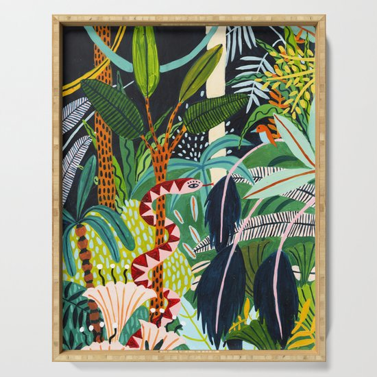 The Jungle at Midnight by amberstextiles