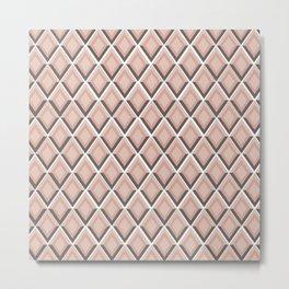 pink snake skin print Metal Print