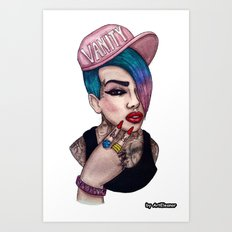 VANITY & JEFFREE STAR Art Print