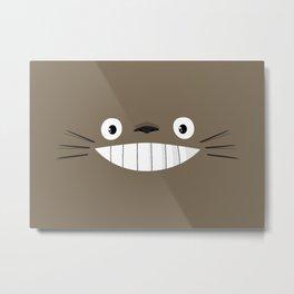 TotoroFace Metal Print