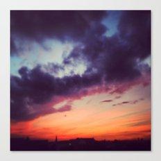 Burning Berlin Sky Canvas Print