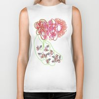 tequila Biker Tanks featuring Tequila Sunrise by Mary Holland