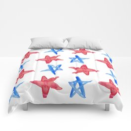 Red and Blue Stars Comforters