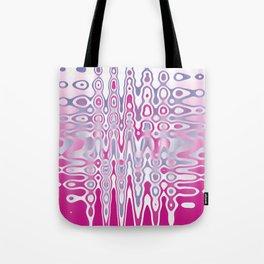 Abstract Pink Jiggle Tote Bag