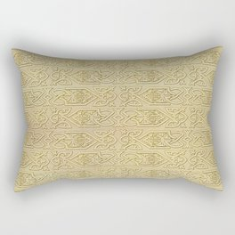 Golden Celtic Pattern on canvas texture Rectangular Pillow