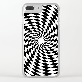Tunnel of Distraction Clear iPhone Case