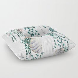 hanging plant in seashell Floor Pillow