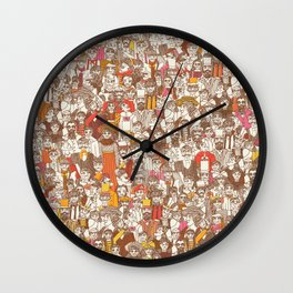 Victorian Crowd Wall Clock