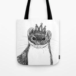 flapper weasel wearing a glittering tiara Tote Bag
