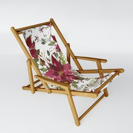 Poinsettia Flowers Sling Chair
