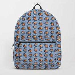 Seashell pattern in Blue Backpack