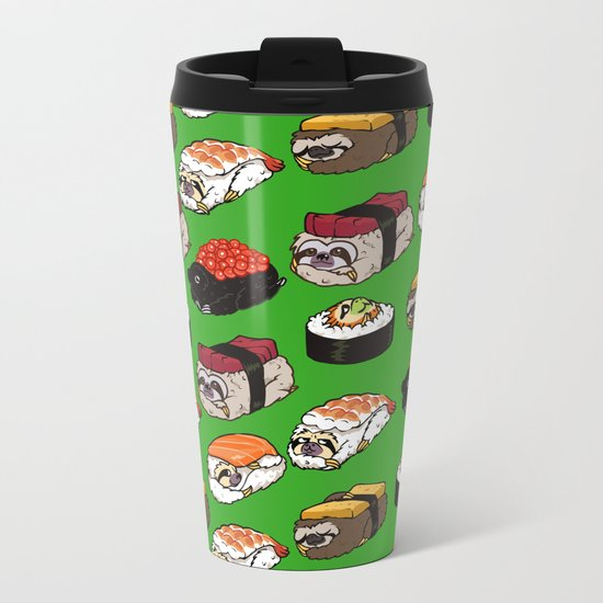 Sushi Sloth Metal Travel Mug