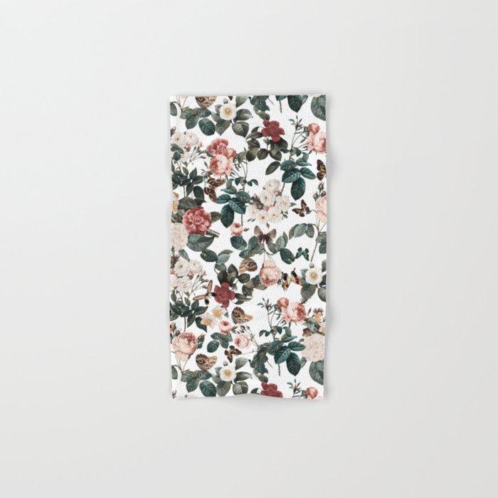 Floral and Butterflies II Hand & Bath Towel