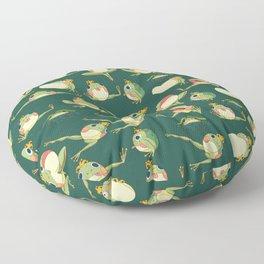 FROOOOOOOOOOOOWG PATTERN dark green Floor Pillow