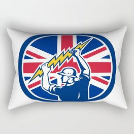 British Electrician Union Jack Flag icon Rectangular Pillow