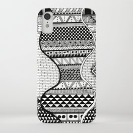 Wavy Geometric Patterns iPhone Case