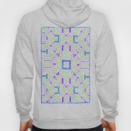 The Song to Support Spiritual Growth - Traditional Shipibo Art - Indigenous Ayahuasca Patterns Hoody