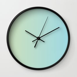 Turquoise Green Blue Gradient Wall Clock