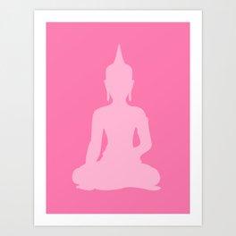 Pink Buddha Art Print