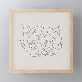One Line Cat Framed Mini Art Print