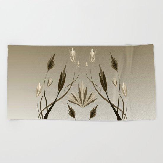 floral emblem 1 Beach Towel