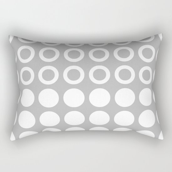 Mid Century Modern Circles And Dots Grey by tonymagner