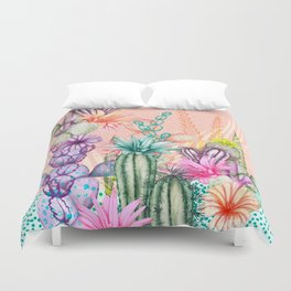 Cacti Love Duvet Cover