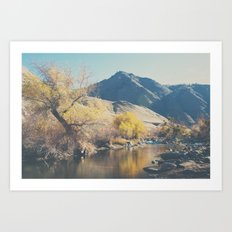 down by the river ... Art Print