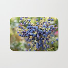 Blue Berries in Monet's Garden  Bath Mat