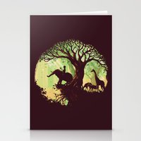 jungle Stationery Cards featuring The jungle says hello by Picomodi