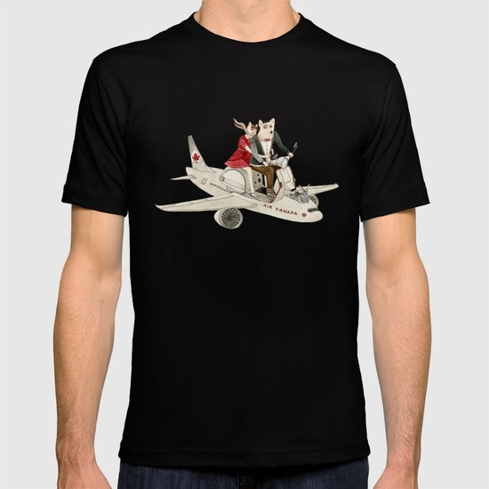 Cat and Wolf hit the road T-shirt
