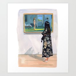 Looking at Hopper Art Print