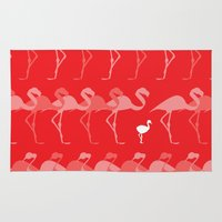 flamingos Area & Throw Rugs featuring Flamingos by Dana Martin