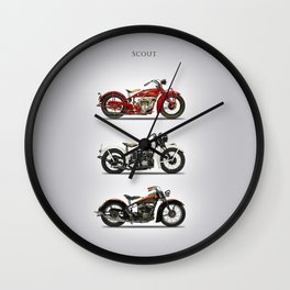 The Scout Trio Wall Clock