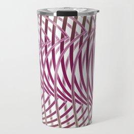 Op-art - intertwining wavy lines Travel Mug