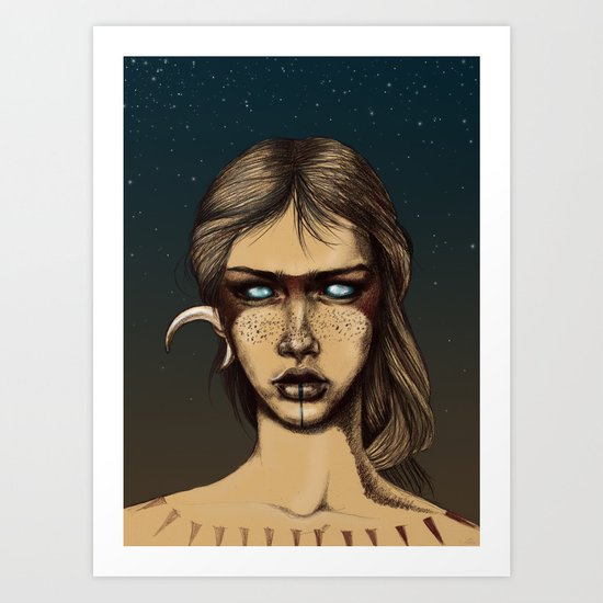 Nocturnal Warrior Art Print