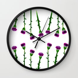 Fan's pattern design-Red carnation Wall Clock