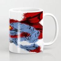 man of steel Mugs featuring Man Of Steel by alsalat