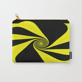 Abstract. Yellow+Black. Carry-All Pouch