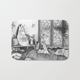 Unicorn house Bath Mat
