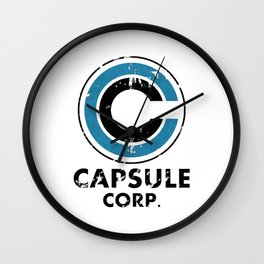 Capsule Corp Vintage bright Wall Clock